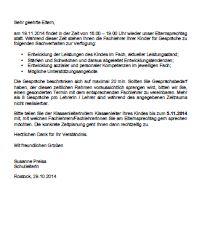 Elternbrief zum Elternsprechtag am 19.11.2014 (16.00 – 19.00 Uhr)