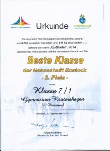 Stadtradeln - Urkunde